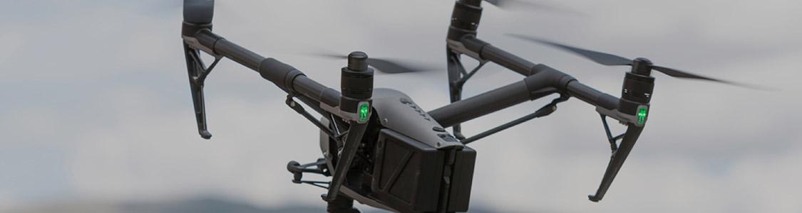 Droni per riprese<br>aeree di sicurezza