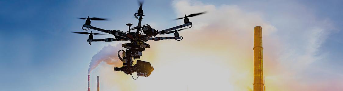 Droni per ispezioni industriali<br>e sicurezza infrastrutturale